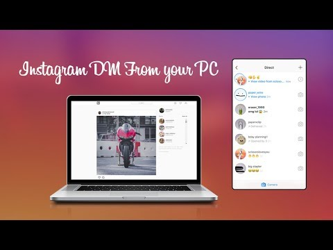 How to dm on instagram on pc